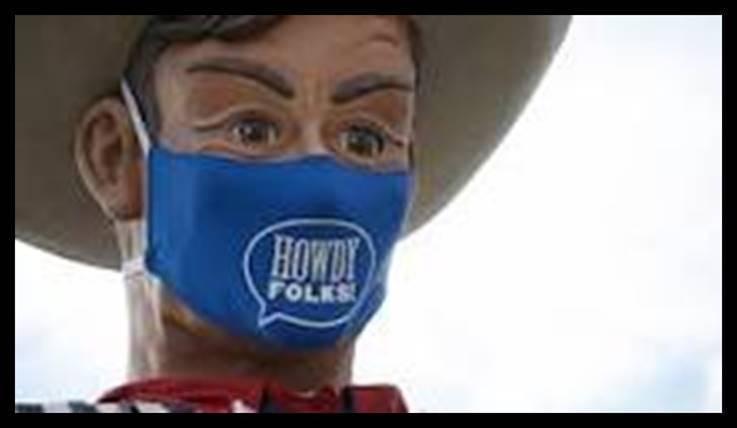 Big Tex in COVID Mask