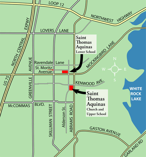 Directions to St. Thomas Facilities