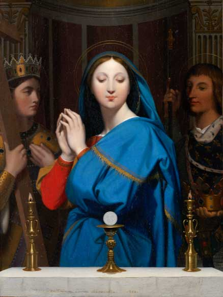 The Virgin Adoring the Host by Jean Auguste Dominique Ingres 1854 | The Met